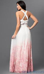 betsy and adam dresses ivory pink ombre prom dress by betsy adam