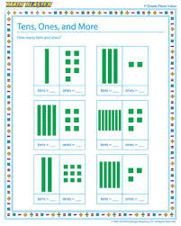 place value first grade worksheets worksheets