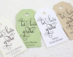 bridal shower favor tags let grow tag wedding favor plant tag bridal shower