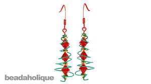 how to make a wire spiral christmas tree earring youtube