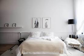 Scandinavian Bed Bedroom Grayscale Scandinavian Bedroom Features Platform Bed With