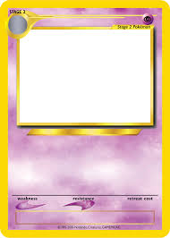 photo collection pokemon card template by