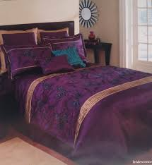 Amazon King Comforter Sets Amazon Com Extreme Linen Iridescence Plum Peacock 8 Piece
