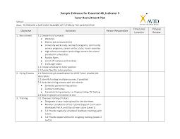 recruitment plan template best business template