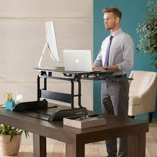 varidesk pro plus 36 dual monitor desk from posturite