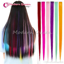 24 In Human Hair Extensions by One Piece Hair Clip In Extensions 50cm Long Straight Synthetic