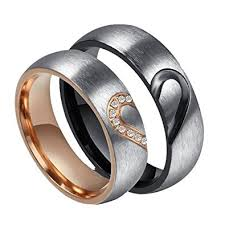 wedding bands for him and rowag 6mm men heart shape titanium stainless steel