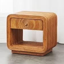 tallulah rattan nightstand cb2