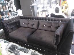 Black Fabric Chesterfield Sofa by Sofas Center Marvelous Blackvet Sofa Picture Design Meridian