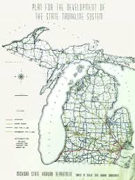Detailed Map Of Michigan Michigan Highways Maps