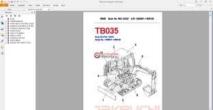 takeuchi excavator tb035 parts manual auto repair manual forum