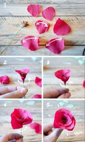 coeur en papier crepon best 20 déco papier crépon ideas on pinterest fleur papier