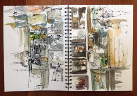 coffee shop sketching again sketch away travels with my