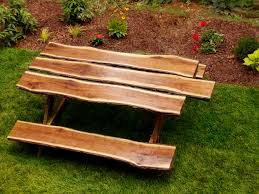 wood rustic picnic tables plans design ideas and decor