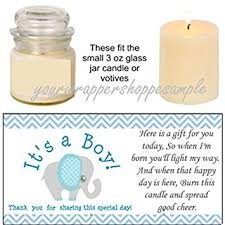 candle baby shower favors 56 blue grey elephant baby shower candle party favor