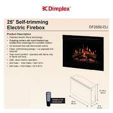 dimplex fireplaces df2550