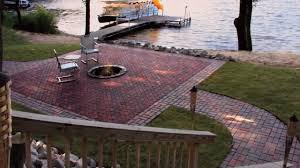 Small Paver Patio by Installing Pavers Menards Youtube