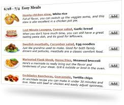 List Of Easy Dinner Ideas Say Mmm Free Meal Plan Grocery List And Recipe Organizer