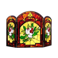 stained glass fireplace screen claudiawang co