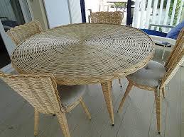 chaises en osier set de cuisine en rotin inspirational davaus chaise de cuisine en