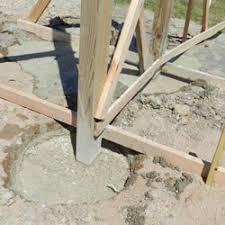 bonding a pole barn post in concrete