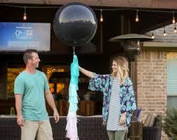gender reveal balloons gender reveal balloon etsy