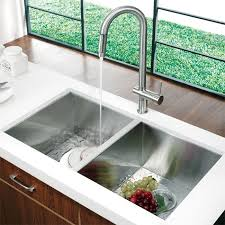 Stainless Steel Kitchen Sinks Undermount Reviews by Vigo Vg02008st Universal Stainless Steel Pullout Spray Kitchen