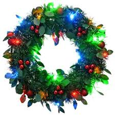 holiday time pre lit 18 christmas garland multi lights wreaths wayfair co uk