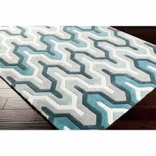 art of knot orleans hand tufted plush geometric area rug teal