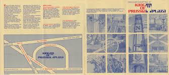 Kop Mall Map King Of Prussia Historical Society King Of Prussia Plaza Brochure