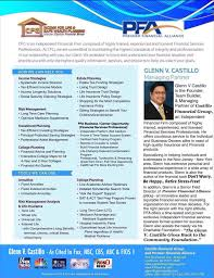 Proffesional Profile Glenn V Castillo Professional Profile Castillofinancialgroup