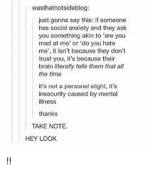 Social Anxiety Meme - wasthmatnotsideblog just gonna say this if someone has social