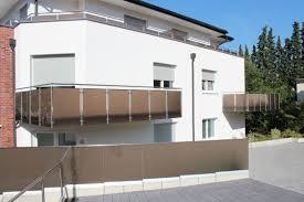 glas balkon glas brüstung balkon und garageneinfahrt panther glas ag