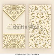 Wedding Card Design Background Vector Invitation Cards Wedding Card Damask Stock Vector 441331741