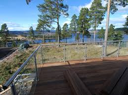 steel balustrade handrail glass deck railing