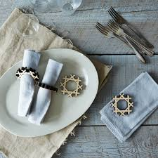 precision cut napkin rings set of 4 on food52