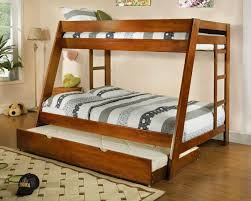 Wood Bunk Bed With Futon Furniture Wooden Bunk Beds Twin Over Full With Stair Mattress