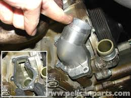 porsche 911 carrera water pump and thermostat replacement 996