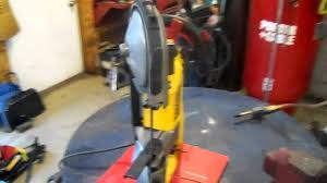 shop made portable bandsaw stand youtube