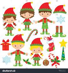christmas elf vector cartoon illustration stock vector 494984122