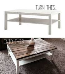 ikea lack coffee table hack stained wood apartment pinterest