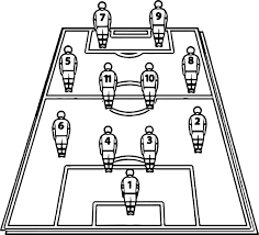 soccer football tactics board players field coloring page