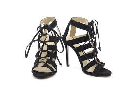 black suede ankle strap sandals avheels
