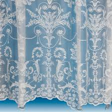 lace curtain in ivory net and voile curtains