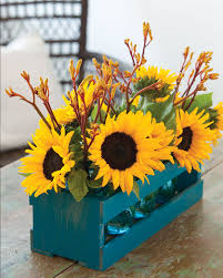 sunflower centerpieces september sunflower centerpieces southern mag