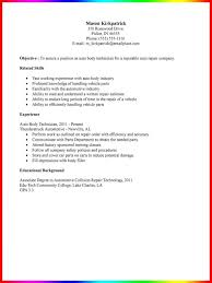 Sample Resume For Auto Mechanic by Cover Letter Automotive Technician Resume Examples Apprentice