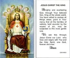 jesus the king prayer card pack of 100 paper holy cards