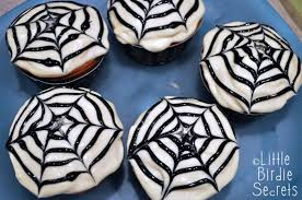 halloween spider web cupcakes little birdie secrets