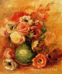 christmas gift flowers by pierre auguste renoir paintings modern