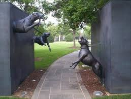 guard dog statue dogs sculpture birmingham alabama roadside attractions